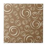 Lemongrass swirl pattern Pt81 Tile