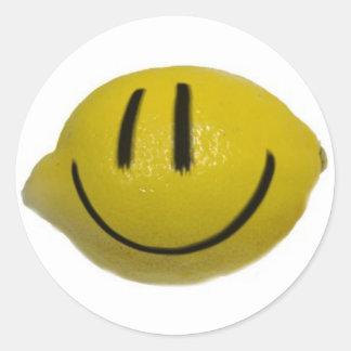 lemonhead classic round sticker