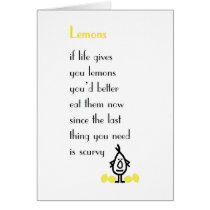 Lemons - a funny get well poem card