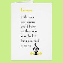 Lemons - a funny get well poem card