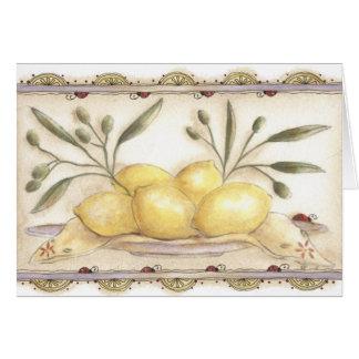 Lemon's and Ladybug's Card