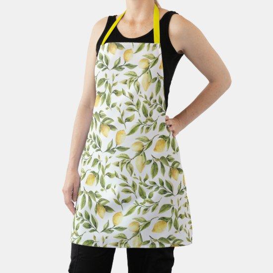 Lemons and Leaves Citrus Fruit Apron
