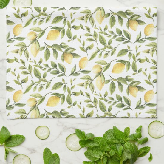 Lemons and Leaves | Kitchen Towel