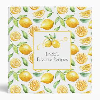 Lemons and Leaves Recipe Binder |