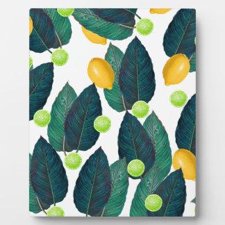 lemons and limes plaque