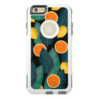 lemons and oranges black OtterBox iPhone 6/6s plus case
