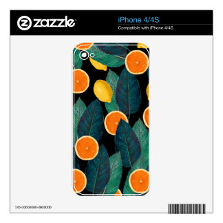 lemons and oranges black skin for the iPhone 4
