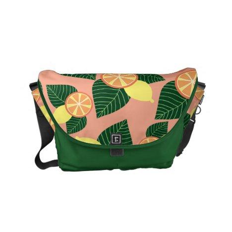 Lemons and oranges small messenger bag