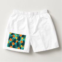 lemons and oranges teal boxers