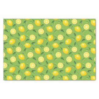 """Lemons Background Pattern 10"""" X 15"""" Tissue Paper"""