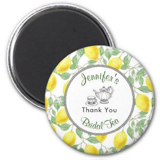 Lemons Branch and Tea Bridal Shower Thank You Magnet