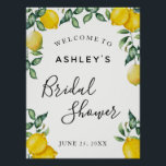 "Lemons Bridal Shower welcome sign<br><div class=""desc"">Bridal Shower welcome sign poster with lemons and greenery. Find matching items in our shop or contact us.</div>"
