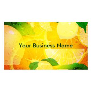 Lemons Business card Indestructible Paper