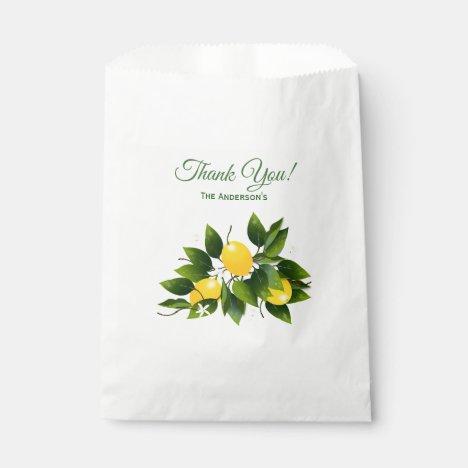 Lemons Citrus Fruit | Thank You Favor Bag