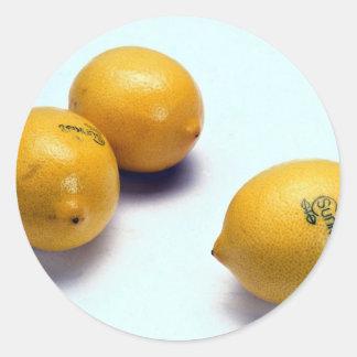 Lemons Classic Round Sticker