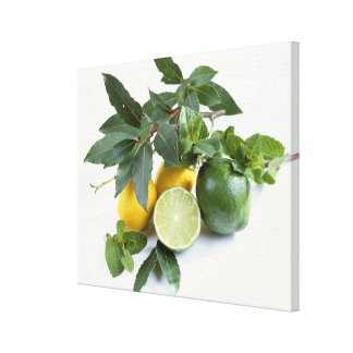 Lemons For use in USA only.) Canvas Print