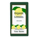 Lemons Gardener Label