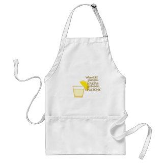 lemons gin and tonic adult apron