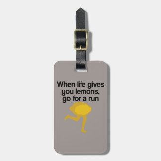 Lemons Go Run Travel Bag Tag