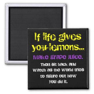 Lemons & Grapes 2 Inch Square Magnet