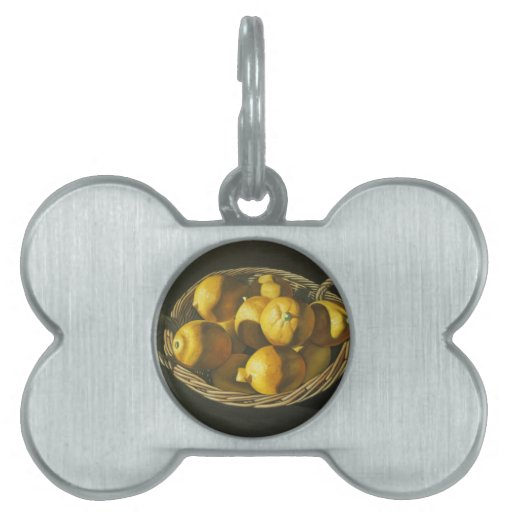 Lemons in Basket Pet Tags