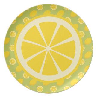 Lemons Melamine Plate