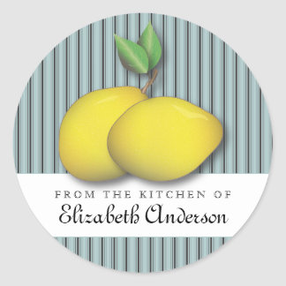 Lemons on Blue Baking Chic From the Kitchen Label