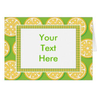 Lemons on Lime Green Card