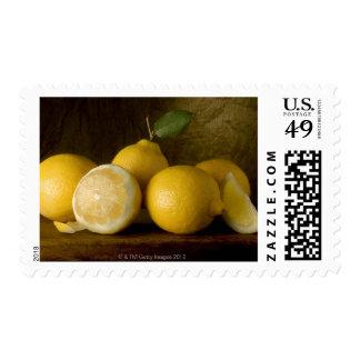 Lemons on Wood Stamp