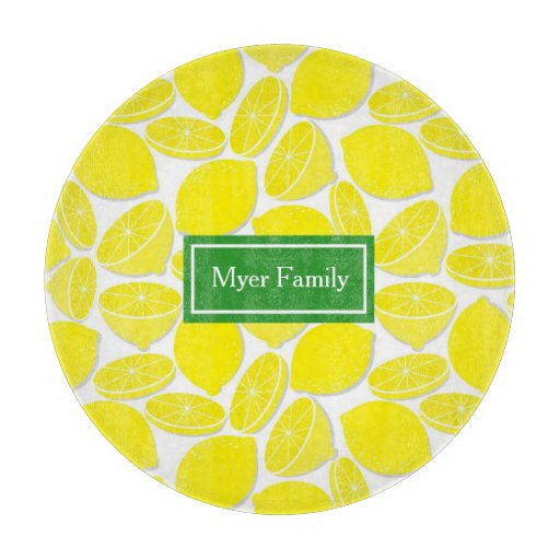 Lemons Personalized Cutting Board