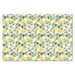 Lemons, plants, floral. Illustration Tissue Paper