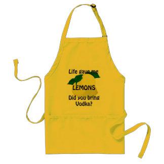 Lemons Vodka Funny Yellow Apron