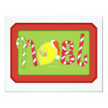 Lemontzz Noel Invitación 10,8 X 13,9 Cm
