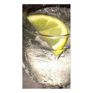 Lemonwater - tarjeta de visita del servicio de ali