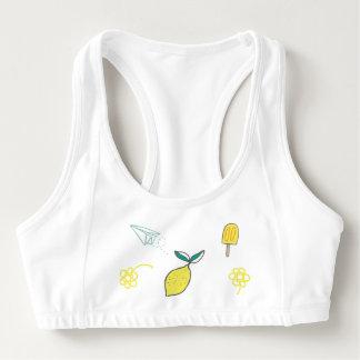 Lemony Summer Workouts Sports Bra