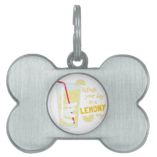 Lemony Way Pet ID Tag