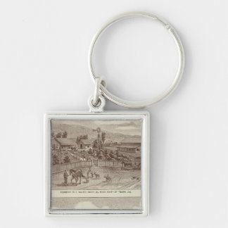 Lemoore, Armona ranches 2 Silver-Colored Square Keychain