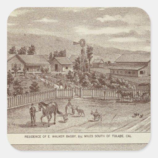Lemoore, Armona ranches 2 Square Sticker