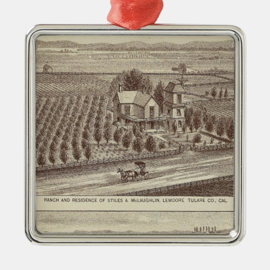 Lemoore, Armona ranches Metal Ornament