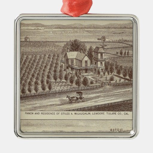 Lemoore, Armona ranches Square Metal Christmas Ornament