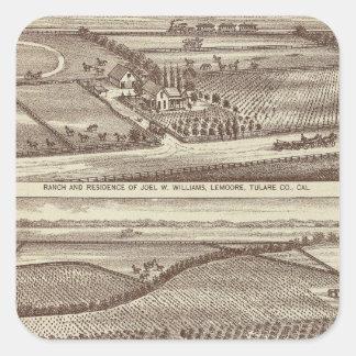 Lemoore, Armona ranches Square Sticker