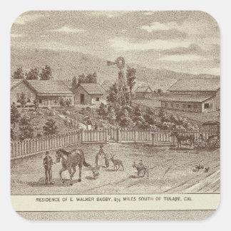 Lemoore, ranchos 2 de Armona Pegatina Cuadrada
