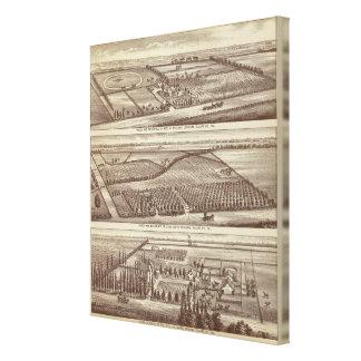 Lemoore, ranchos de Armona Impresión En Lona Estirada