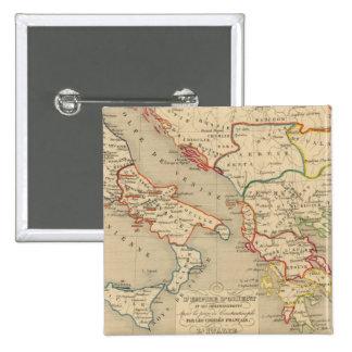 L'Empire d'Orient, l'Italie, 1200 a 1300 Pinback Button