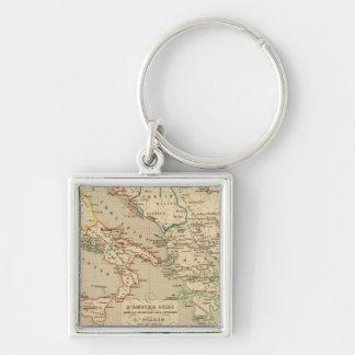L'Empire Grec, l'Italie, 1002 a 1125 Silver-Colored Square Keychain