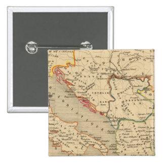 L'Empire Grec, l'Italie, 1125 a 1200 Pinback Button