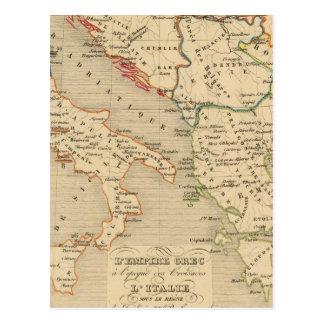 L'Empire Grec, l'Italie, 1125 un 1200 Tarjeta Postal
