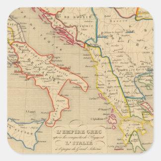 L'Empire Grec, l'Italie, 1300 a 1400 Square Sticker
