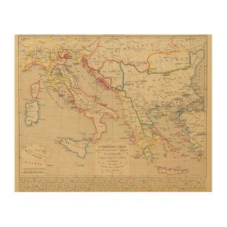 L'Empire Grec, l'Italie, 1300 un 1400 Impresión En Madera