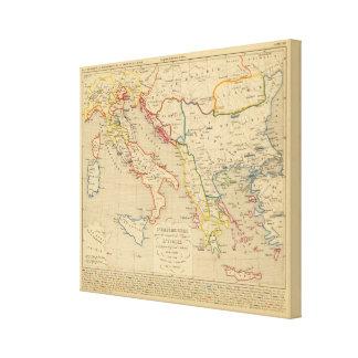 L'Empire Grec, l'Italie, 1300 un 1400 Lona Envuelta Para Galerías